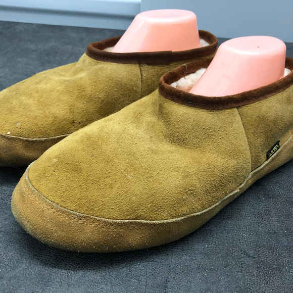 Acorn Other - Acorn Men's Olive Suede slippers Size 10.5-11